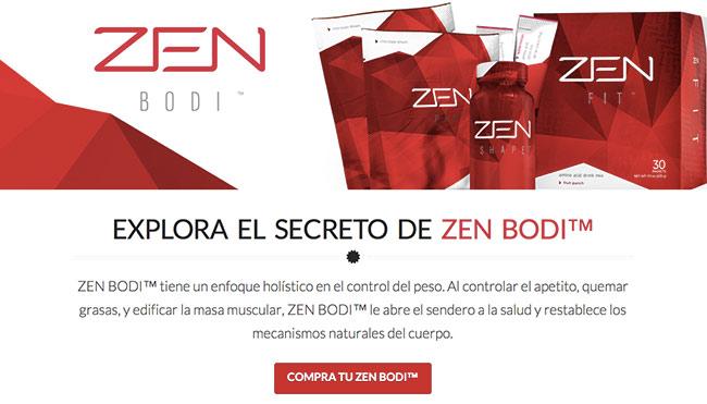 Zen Bodi Landing Page