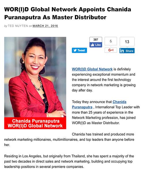 Chanida Puranaputra Master Distributor