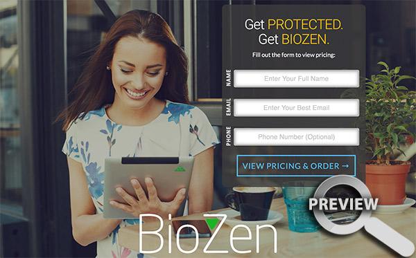 BioZen Landing Page