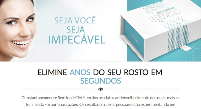 Portugese Instantly Ageless Landing Page